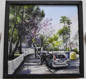 Alcudia Mallorca , photorealism painting